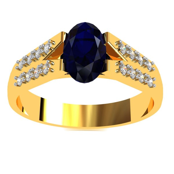 Blue Sapphire Infinity Band Ring