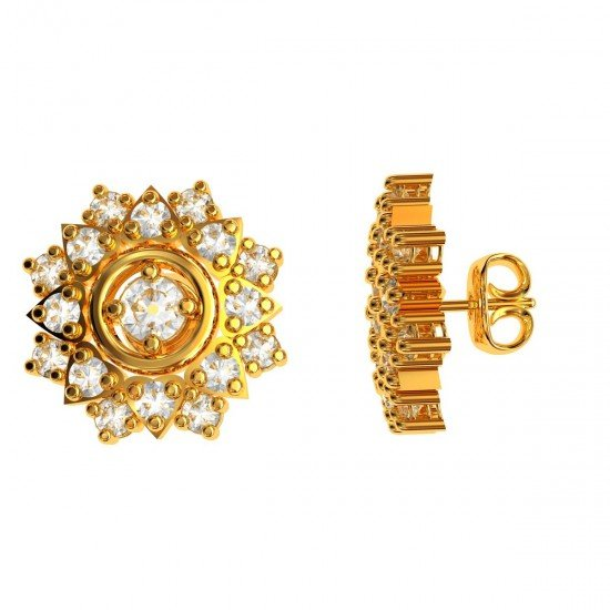 Traditional Earring Studs Gold