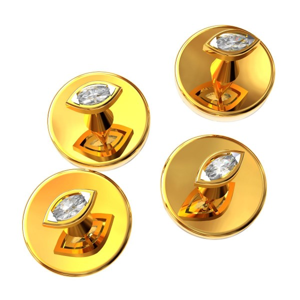 Marquise Gold Buttons