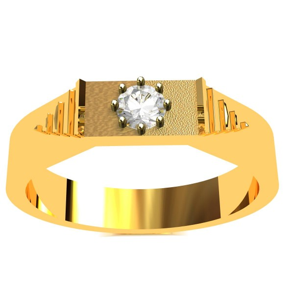 Solitaire Engagement Band Ring