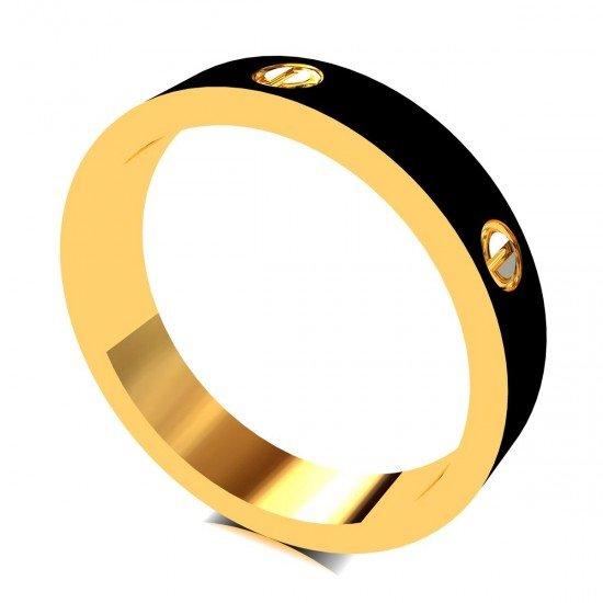 Enamel Gold Band Ring
