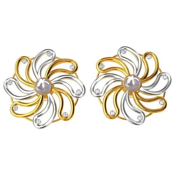 American Diamond Pearl Earring