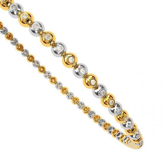Gold Diamond Ball Bangle