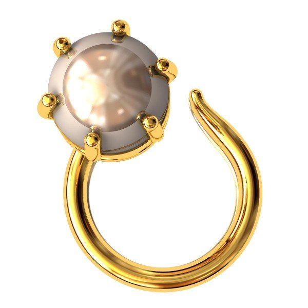 Golden Pearl Nose Pin