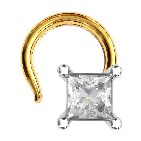 Princess American Diamond Nose Pin