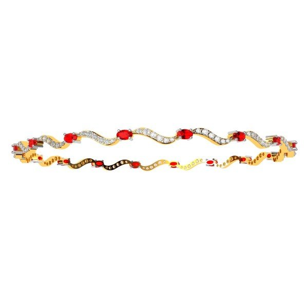 Ruby Diamond Fashion Bangle