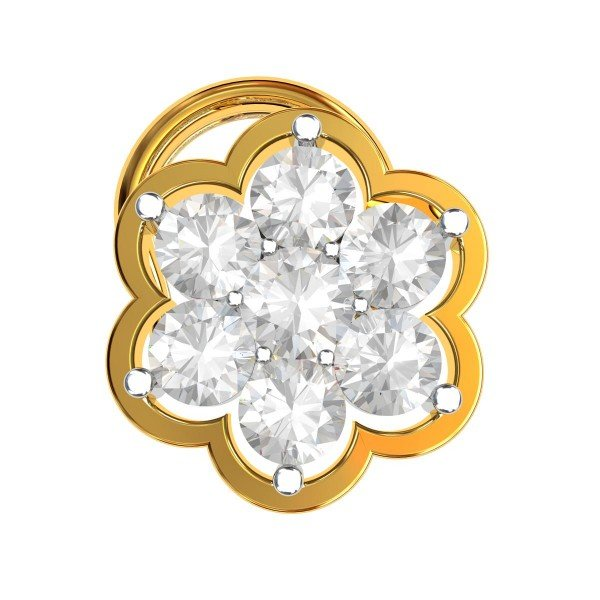 Cluster American Diamond Nose Pin