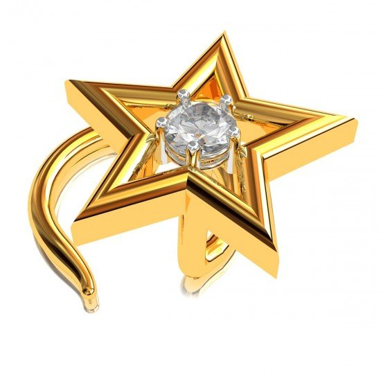 Five Star Nose Pin