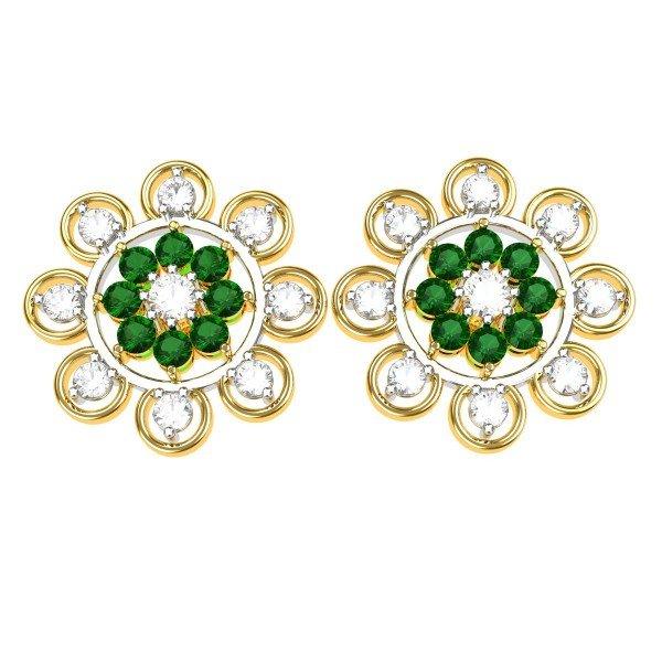 Emerald American Diamond Earring