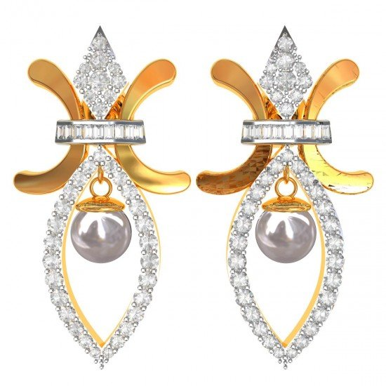 Gold Earring with Pear