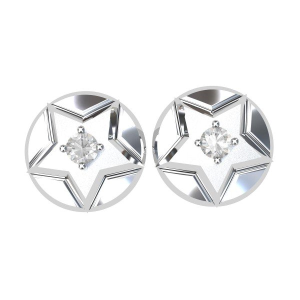 Single American Diamond Stud Earring