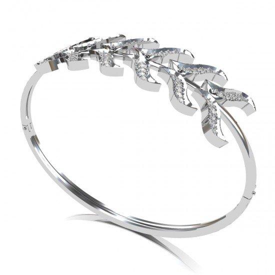 Cross White Gold Bracelet