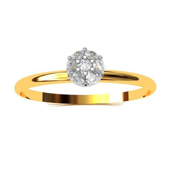 The Heera Round American Diamond Ring