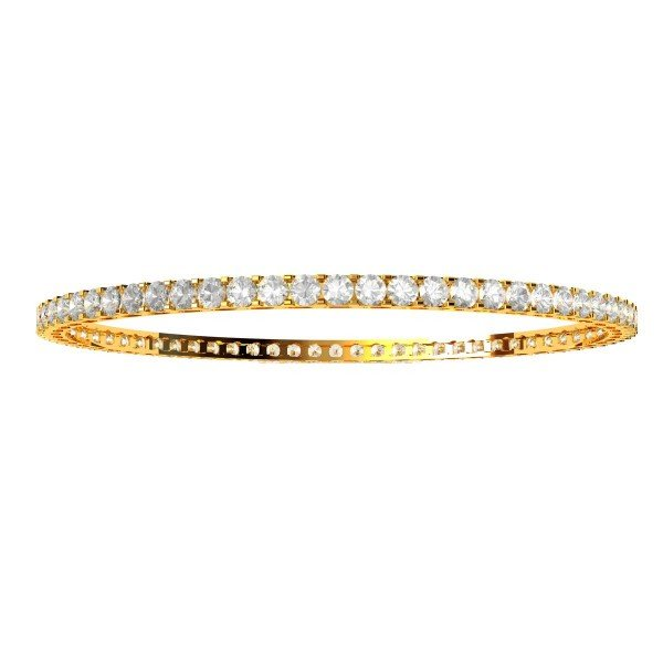 Oval Holo Single Line Diamond Bangle