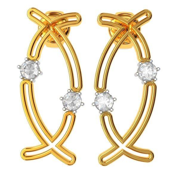 Vintage American Diamond Earrings
