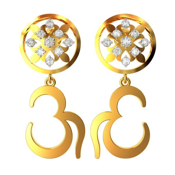 Om Dangling Earring