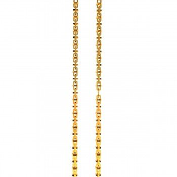 Rectangle Round Gold Chain