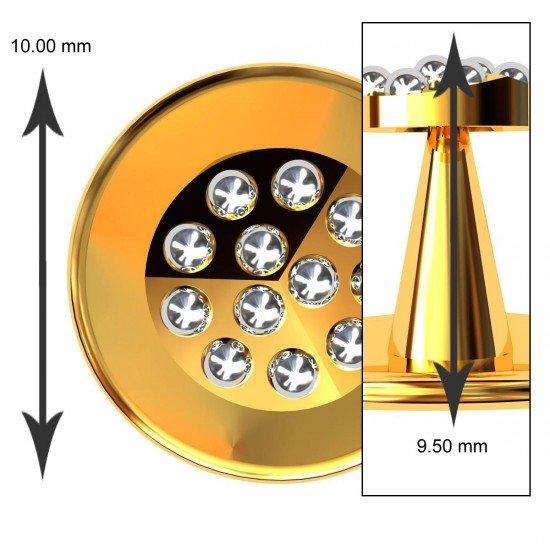 Rhodium Ball Buttons
