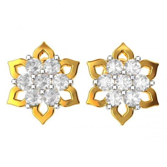 American Diamond Cluster Stud Earrings