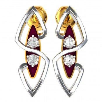 Stylish Meena American Diamond Earring