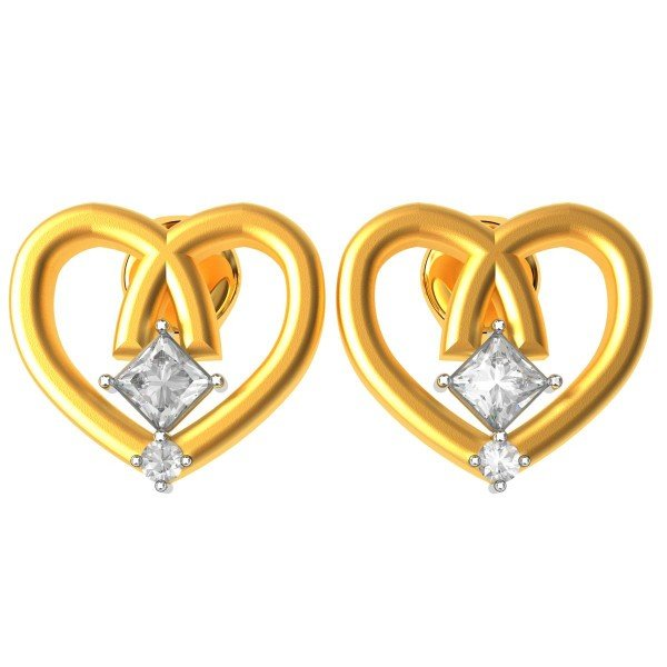Princess Cut American Diamond Earring