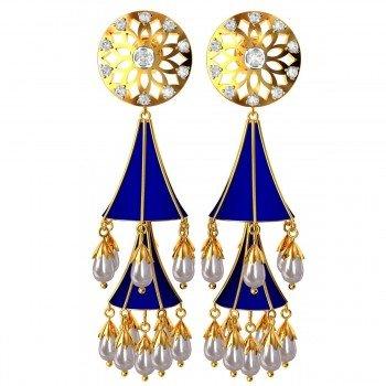 Double Enamel Jhumka Earrings