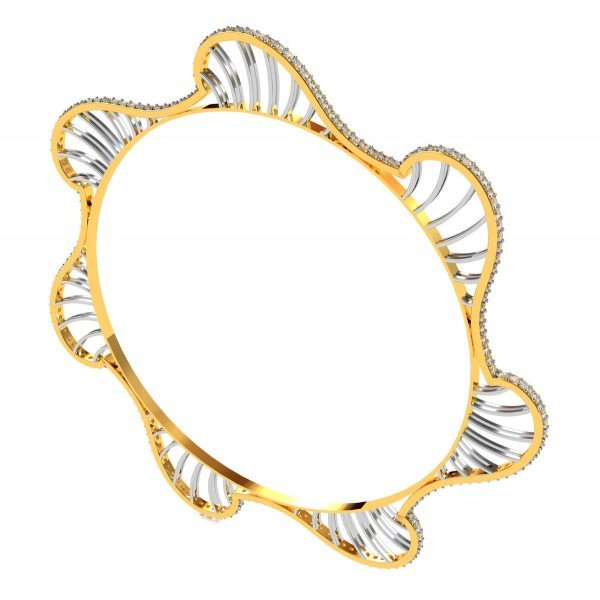 Designer Wave Diamond Bangle