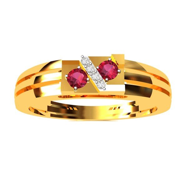 Ruby American Diamond Cocktail Ring