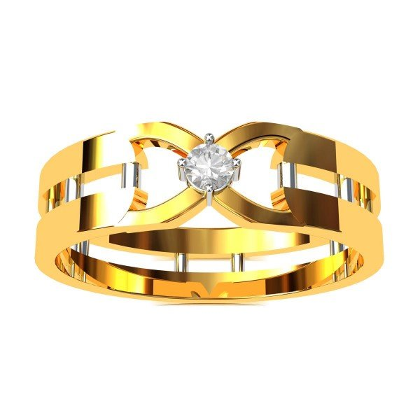 American Diamond Wedding Band Ring