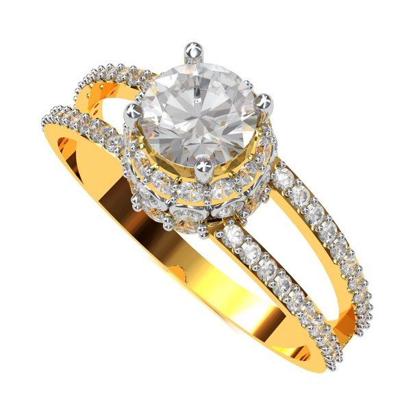 Round American Diamond Solitaire Rings