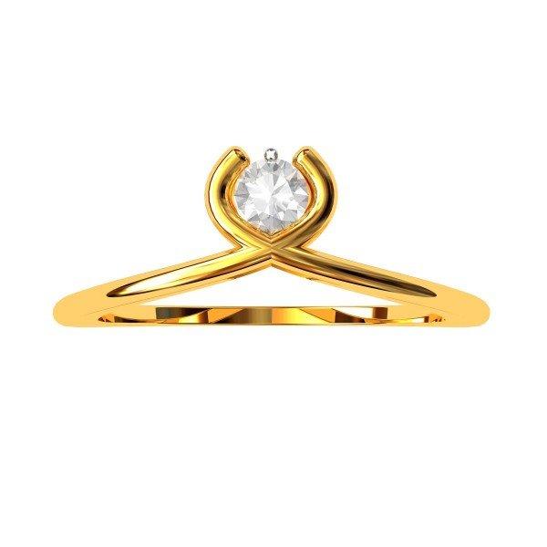 The Pubali Solitaire  American Diamond Ring