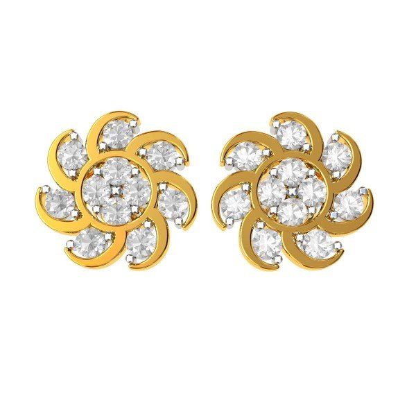 Traditional American Diamond Studs Earring