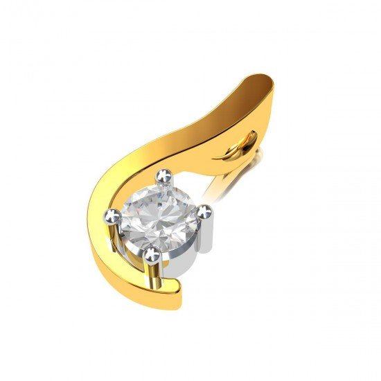 Curved Solitaire Pendant