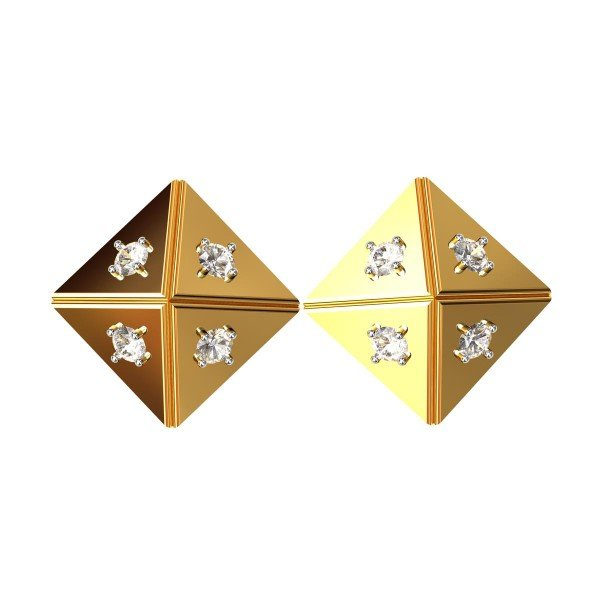 Square American Diamond Earring