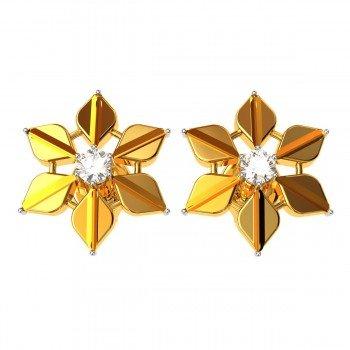 Flower American Diamond Earring