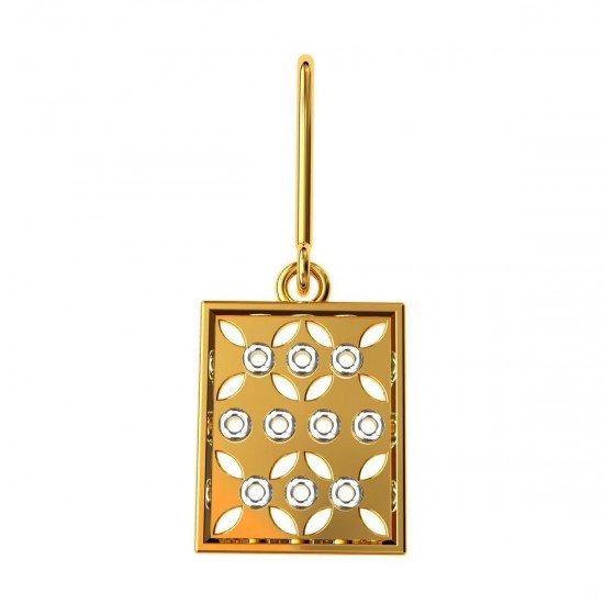 Rectangle Gold Dangler