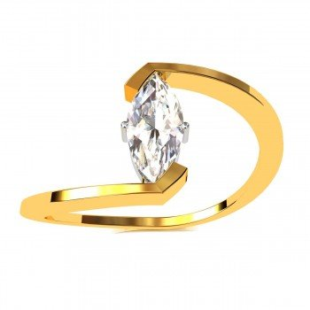 Marquise American Diamond Solitaire Ring