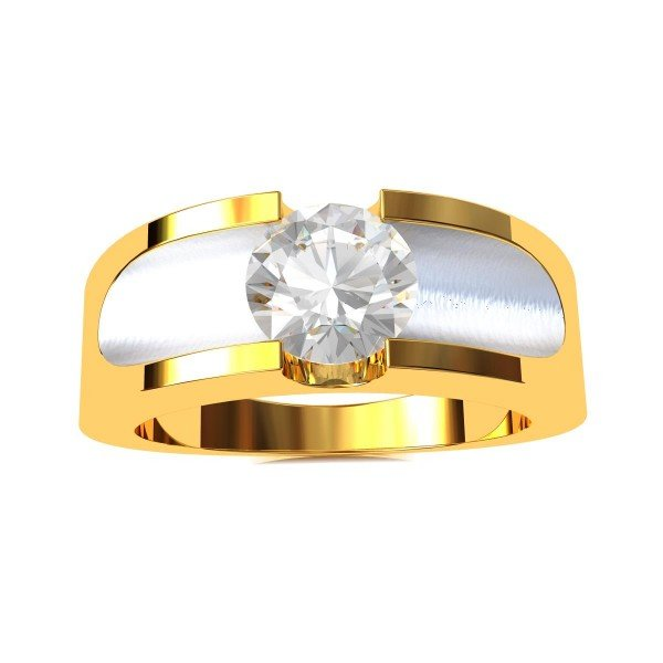Solitaire American Diamond Engagement Ring