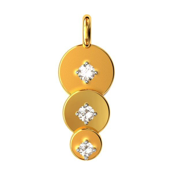 Rounded American Diamond Pendant