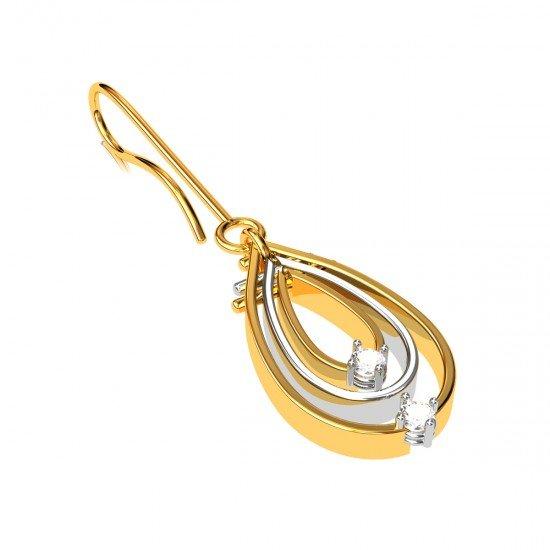 American Diamond Hoop Drop Earring