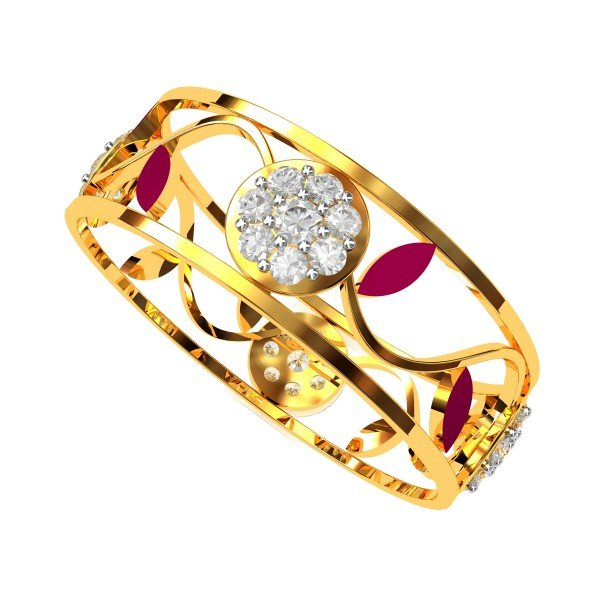 Enamel American Diamond Ring