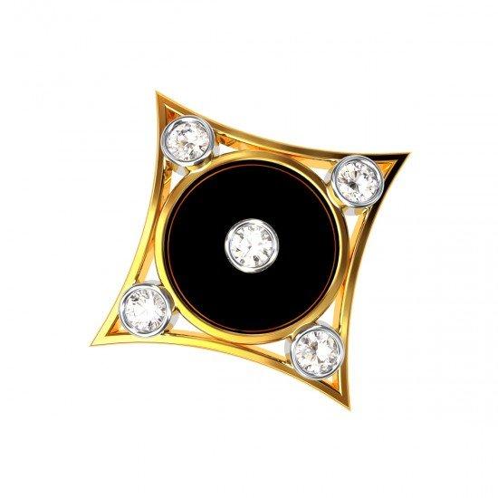 Black Mina Square Pendant