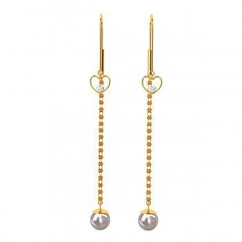Pearl Gold Drop Earrings