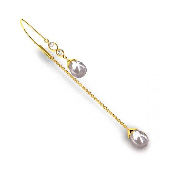 Pearl Long Earring