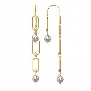 Mystic American Diamond Hoop Earring