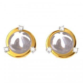 Pearl American Diamond Earring