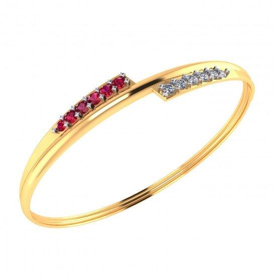 Ruby CZ Diamond Bracelet