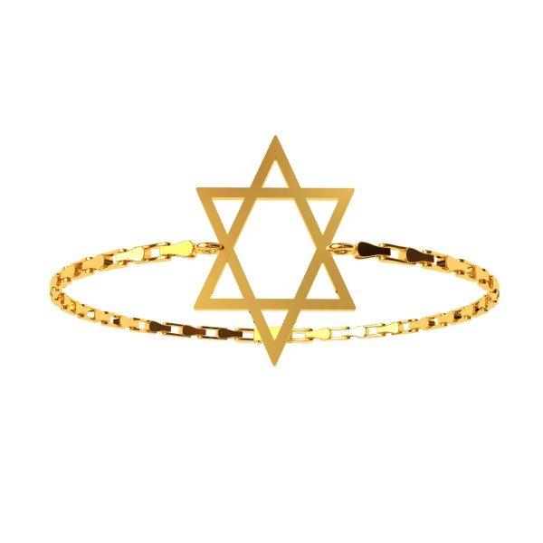 Star Gold Breaded Bracelet