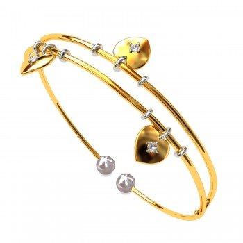 Cross Heart Pearl Bracelet