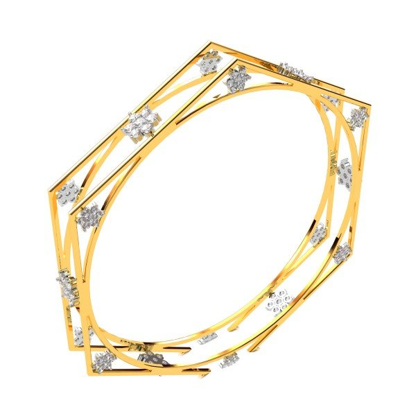 The Diamond Cluster Fashion Bangle